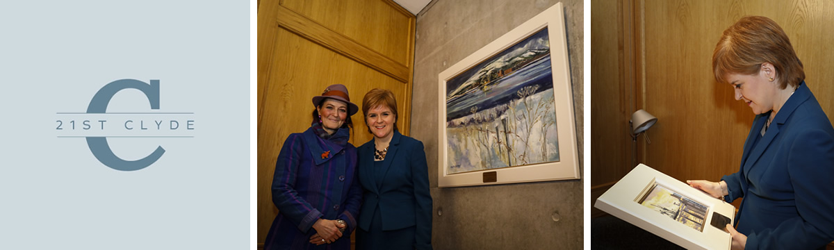 Cara with the First Minister